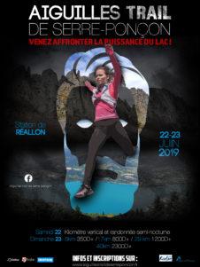 Affiche aiguilles trail de Serre-Ponçon